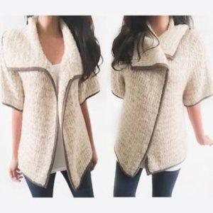 LOFT Chunky Knit Wool Blend Open Front Cardigan